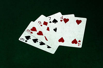 Three Of A Kind Photograph - Poker Hands - Three Of A Kind 2 by Alexander Senin