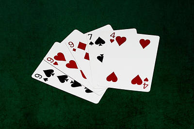 Three Of A Kind Photograph - Poker Hands - Three Of A Kind 2 V.2 by Alexander Senin