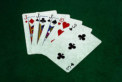 Three Of A Kind Photograph - Poker Hands - Three Of A Kind 3 by Alexander Senin