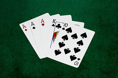 Three Of A Kind Photograph - Poker Hands - Three Of A Kind 4 V.2 by Alexander Senin