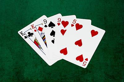 Winning Combination Photograph - Poker Hands - Two Pair 1 V.2 by Alexander Senin