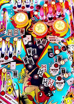 Photograph - Poker Playfield by Benjamin Yeager