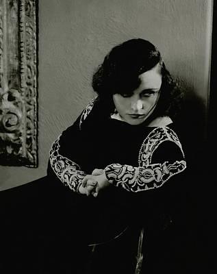 Pola Negri Photograph - Pola Negri Wearing A Dress by Edward Steichen