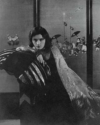 Pola Negri Photograph - Pola Negri Wearing A Gilded Dress by Edward Steichen