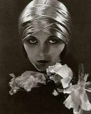 Woman Head Photograph - Pola Negri Wearing A Head Wrap by Edward Steichen