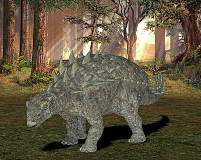 Paleozoology Photograph - Polacanthus Dinosaur by Friedrich Saurer
