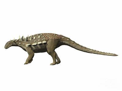 Polacanthus Foxii, Early Cretaceous Art Print by Nobumichi Tamura