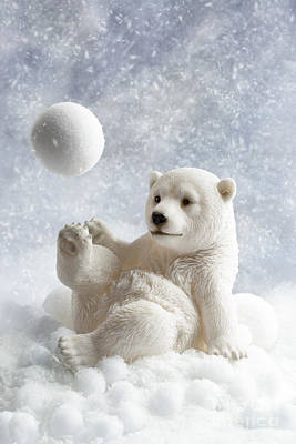 Polar Bear Decoration Print by Amanda Elwell