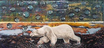 Painting - Polar Bear Displacement Replacement by Darren Mulvenna