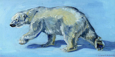Painting - Polar Bear Painting Grace by Christine Montague