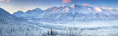 Cold Temperature Photograph - Polar Bear Peak And Eagle Peak by Panoramic Images