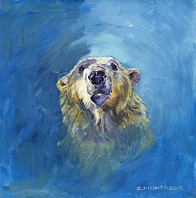 Painting - Polar Bear Portrait 1 by Christine Montague