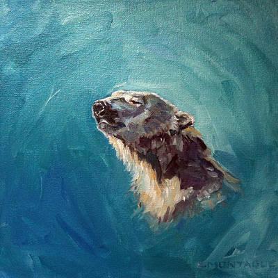 Bear Painting - Polar Bear Portrait 3 by Christine Montague