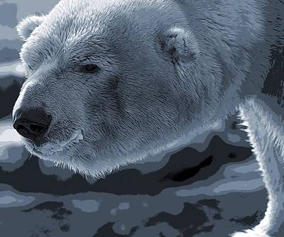Bear Mixed Media - Polar Bear Poster by Dan Sproul