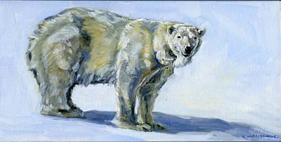 Painting - Polar Bear Paws Qamut by Christine Montague