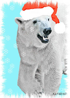 Digital Art - Polar Bear Santa by Lizi Beard-Ward