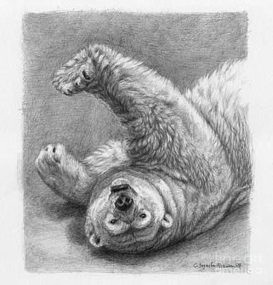 Polar Bear Stretch Print by Svetlana Ledneva-Schukina