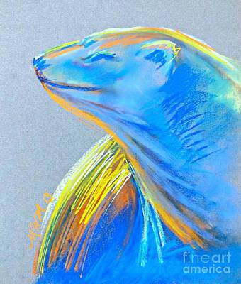 Polar Bear Sun Art Print