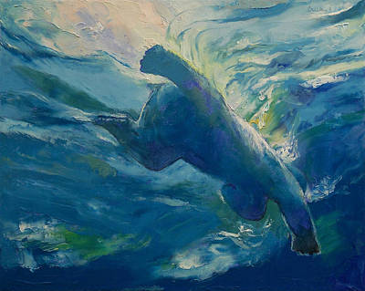 Swimmers Painting - Polar Bear Swim by Michael Creese