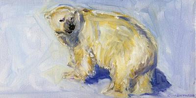 Painting - Polar Bear Art Ursa by Christine Montague