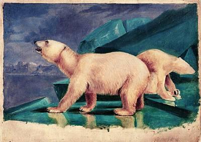 Peale Photograph - Polar Bears by American Philosophical Society