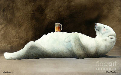 Beer Painting - Polar Beer... by Will Bullas