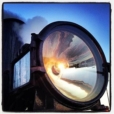Steam Wall Art - Photograph - Polar Express Beaming Into Christmas ~ by Chris T Darling