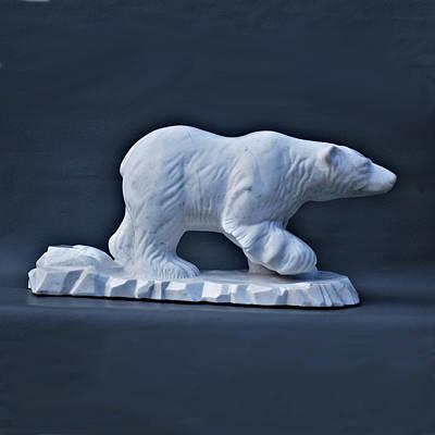 Sculpture - Polar King by Leslie Dycke