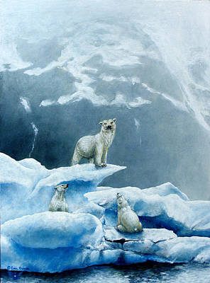 Polar Knowledge Art Print by Cara Bevan