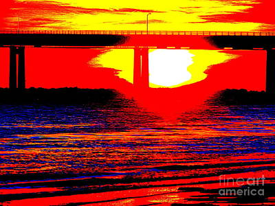 Photograph - Polar Vortex Sunset by Ed Weidman