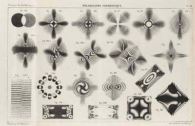 Polarised Light Patterns Art Print