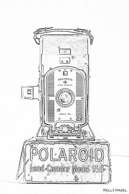 Photograph - Polaroid Land Camera 95b Contour by Kelly Hazel