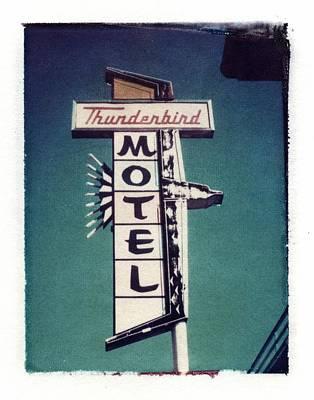 Polaroid Transfer Motel Art Print by Jane Linders