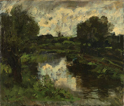 Storm Drawing - Polder After Storm, Jacob Maris by Litz Collection
