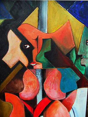 Painting - Pole Dancer by Val Byrne