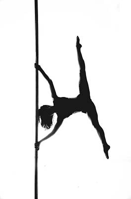 Fitness Photograph - Pole Silhouette by Marino Flovent
