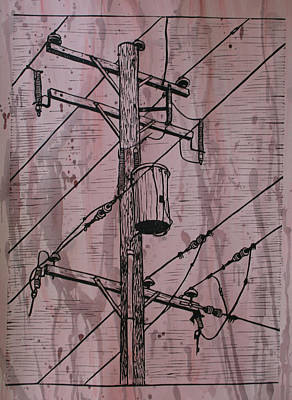 Pole With Transformer Art Print