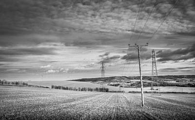 Photograph - Poles And Pylons by Gary Gillette