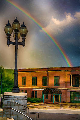 The Downtown Gallery Painting - Police At The End Of The Rainbow by John Haldane