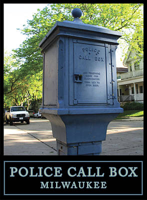 Digital Art - Police Call Box Milwaukee by Geoff Strehlow