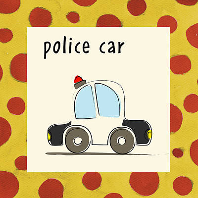 Police Car Painting - Police Car by Esteban Studio