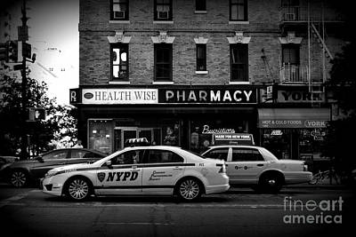 Photograph - N Y P D Noir - Police Car by Miriam Danar