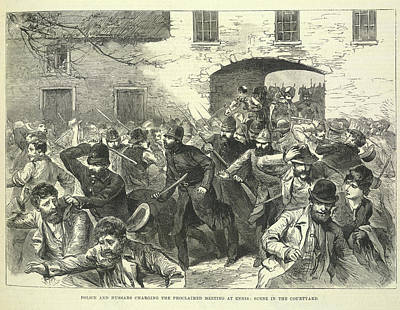 Police Dispersing A Meeting Art Print by British Library