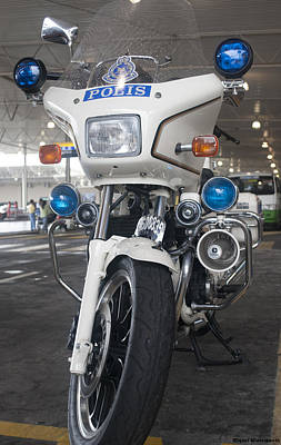 Photograph - Police Honda by Miguel Winterpacht