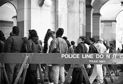 35mm Photograph - Police Line 1990s by John Rizzuto