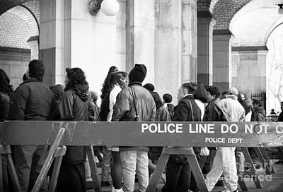 Police Line 1990s Art Print by John Rizzuto