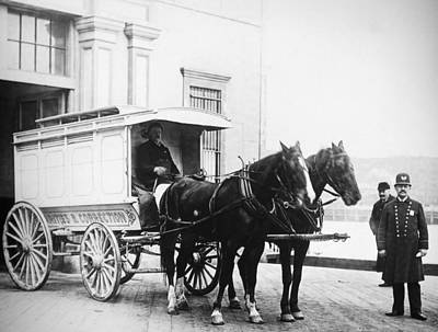 Paddy Wagon Photograph - Police Wagon, C1900 by Granger