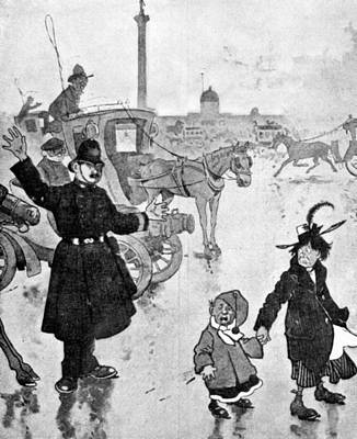 Policeman Cartoon, 1904 Art Print