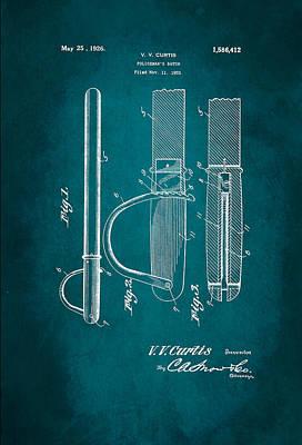 Policeman Wall Art - Digital Art - Policeman's Baton Patent 1926 by Patricia Lintner