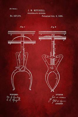 Policeman Wall Art - Digital Art - Policeman's Nippers Patent 1885 by Patricia Lintner